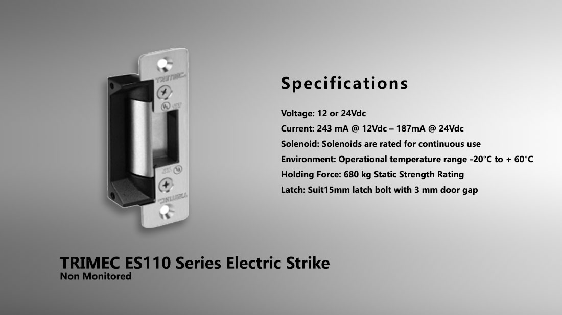 Trimec Es110 Series Electric Strike Hong Kong Security