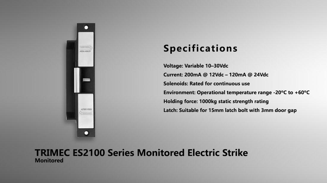 Trimec Es2100 Series Monitored Electric Strike Hong Kong